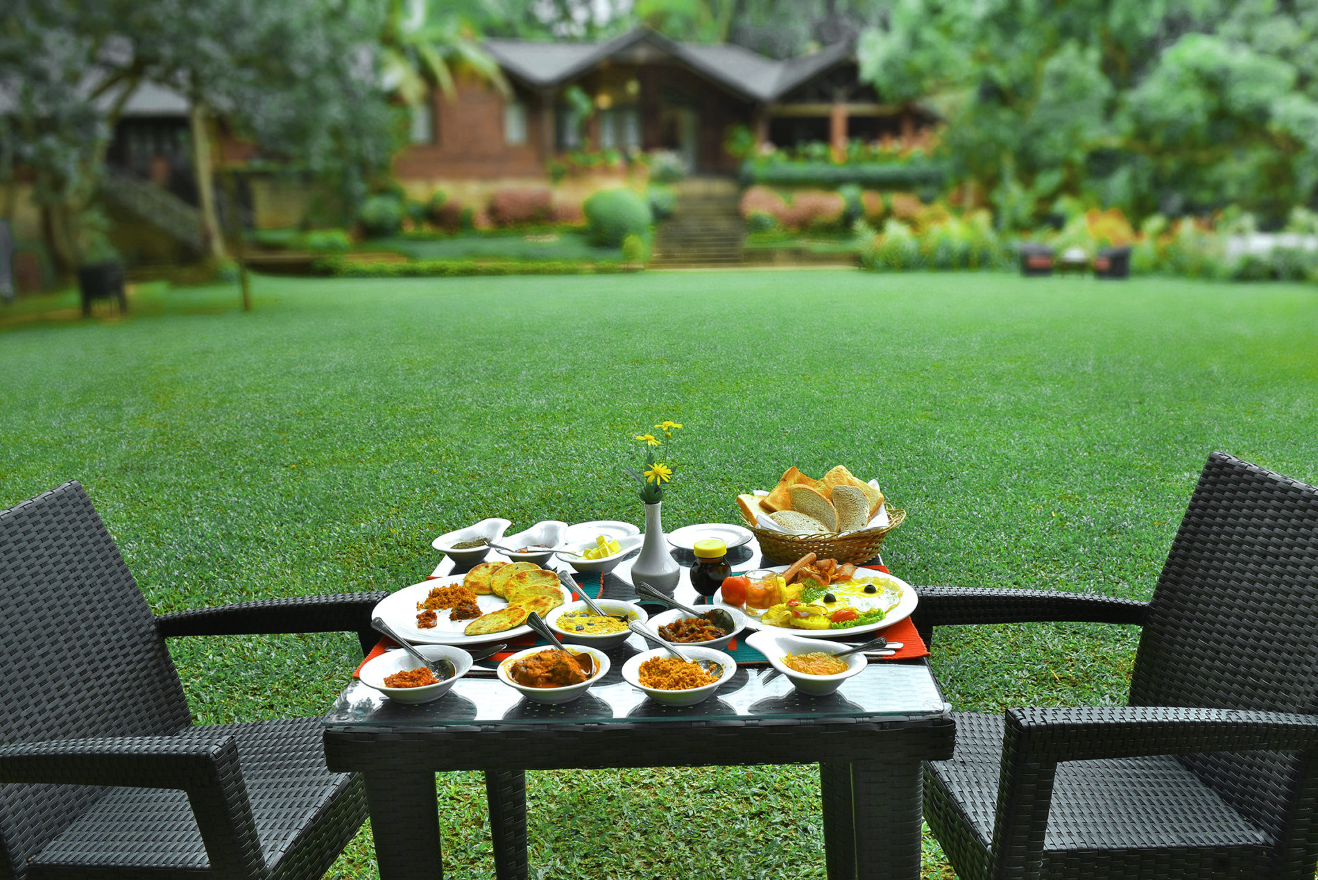 serving breakfast at Homes Bungalow Kandy
